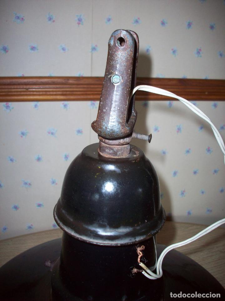 Antigüedades: LAMPARA INDUSTRIAL EGSA AÑOS 30 - Foto 16 - 194239698