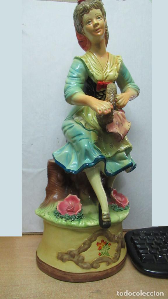 Antigüedades: bonita figura de mujer Ceramica . gran tamaño. sin sello de fabricante.54 cm de alto - Foto 2 - 194241830