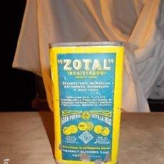 Antigüedades: ANTIGUO BOTE DE ZOTAL, SIN ABRIR. Lote 194242893