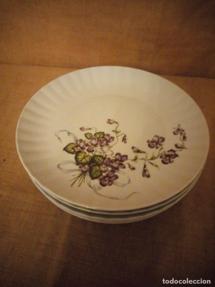 Antigüedades: Lote de 6 platos de postre de porcelana wunsidiedel rosenthal bavaria germany - Foto 2 - 194243966