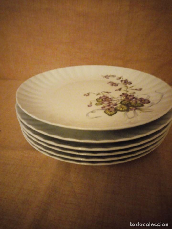 Antigüedades: Lote de 6 platos de postre de porcelana wunsidiedel rosenthal bavaria germany - Foto 4 - 194243966