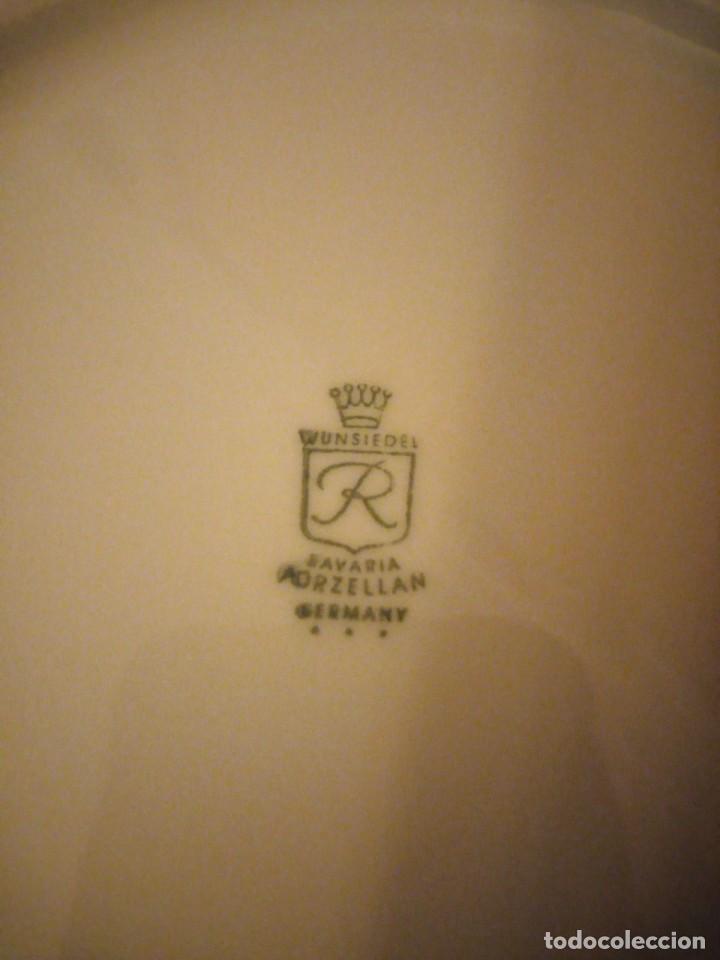 Antigüedades: Lote de 6 platos de postre de porcelana wunsidiedel rosenthal bavaria germany - Foto 5 - 194243966