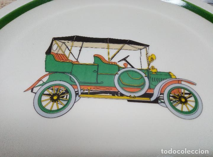 Antigüedades: PLATO DE PORCELAZA PORZELANIT COCHE ANTIGUO, CERAMICA BLANCA ESMALTADA ( PERFECTO ) - Foto 2 - 194246231