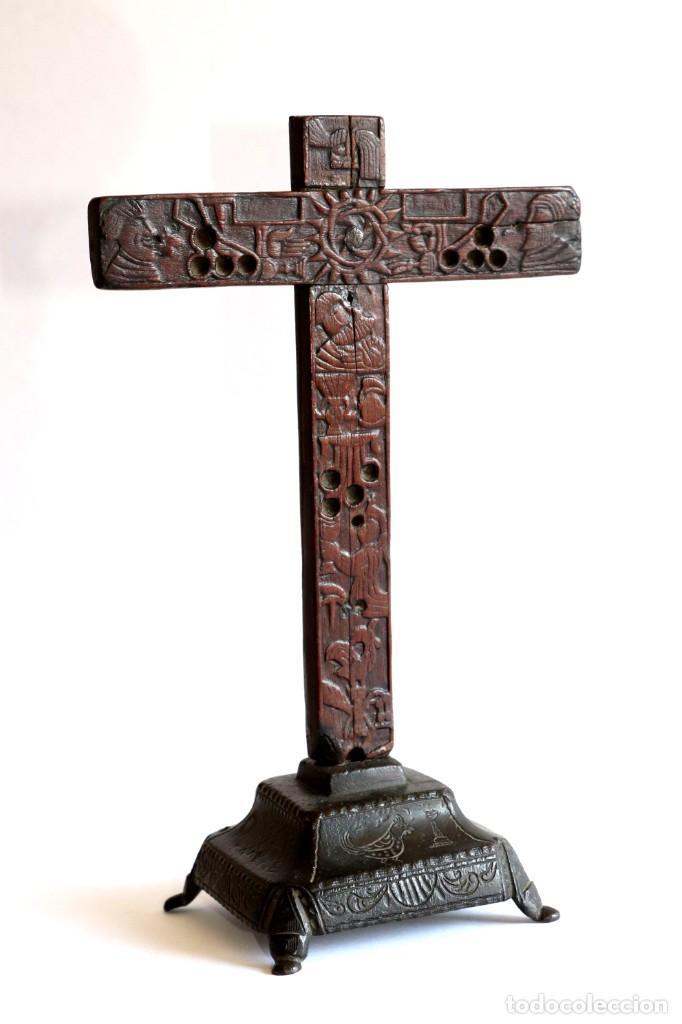 CRUZ DE MESA (Antigüedades - Religiosas - Cruces Antiguas)