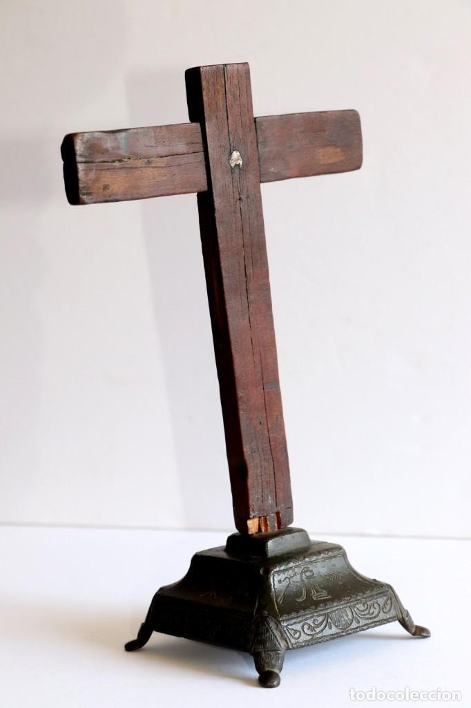 Antigüedades: Cruz de mesa - Foto 2 - 194249098