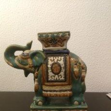 Antigüedades: BONITO ELEFANTE INDIO CERÁMICA. Lote 194250376