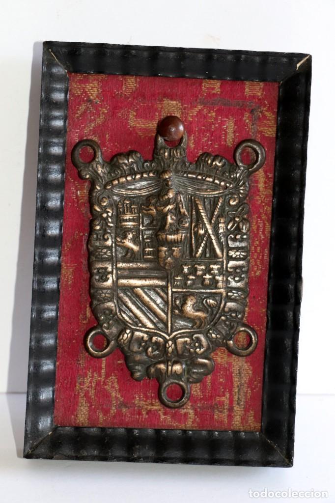 Antigüedades: Escudo heráldico siglo XVIII - Foto 2 - 194250646