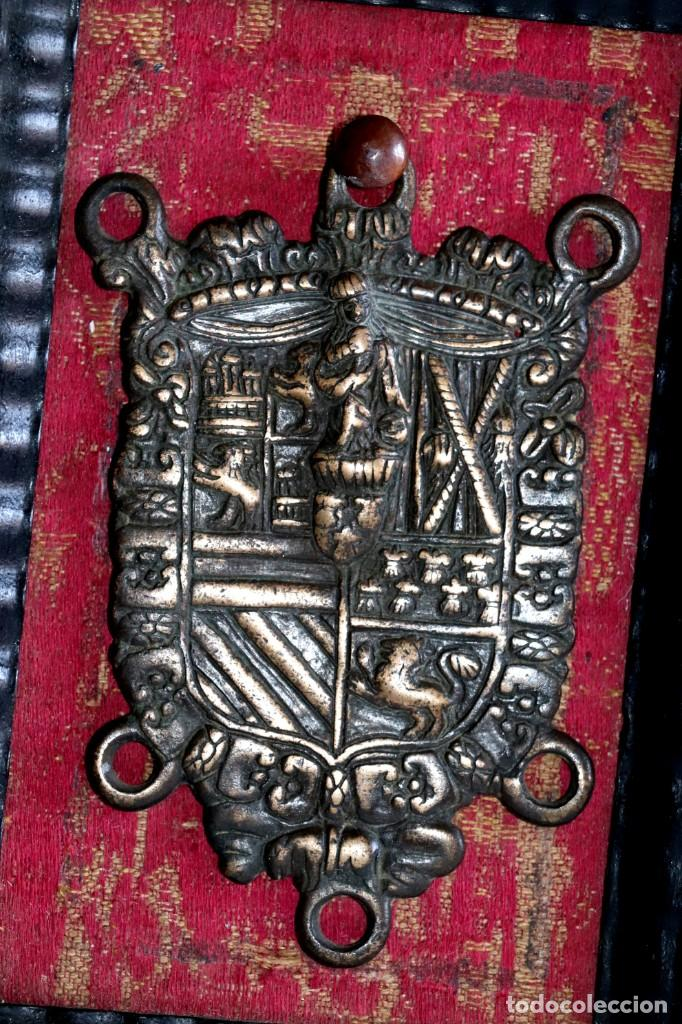 Antigüedades: Escudo heráldico siglo XVIII - Foto 3 - 194250646