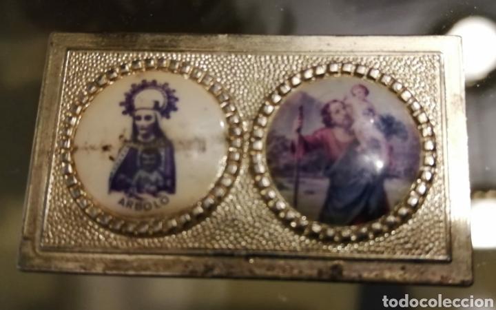 Antigüedades: Imagen vintage de la San Cristobal Virgen de Arbolo-Noguera Pallaresa-Montardit-Lérida-Lleida s - Foto 2 - 194251873