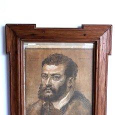 Antigüedades: GRABADO EN MADERA SOBRE PAPEL SIGLO XVII. Lote 194252727
