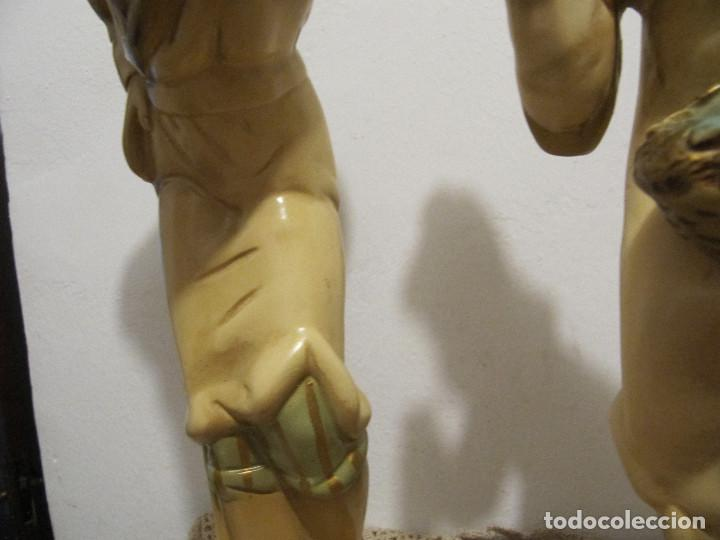 Antigüedades: MUY ANTIGUAS FIGURAS EN CERAMICA ARTE BACHERO VALLADOLID ESPAÑA-44CM - Foto 8 - 194254648