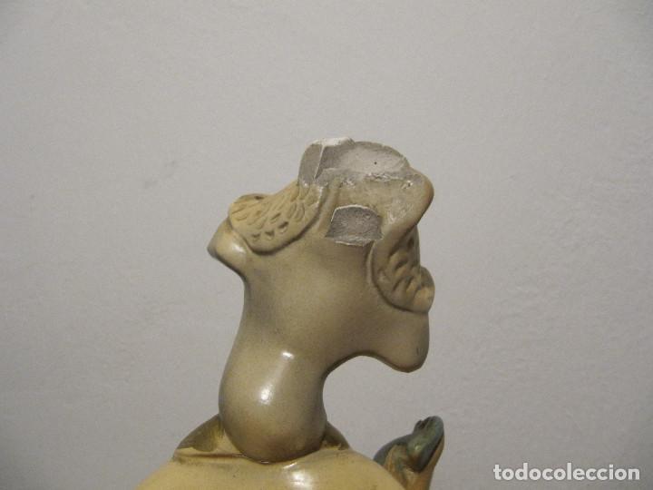 Antigüedades: MUY ANTIGUAS FIGURAS EN CERAMICA ARTE BACHERO VALLADOLID ESPAÑA-44CM - Foto 32 - 194254648