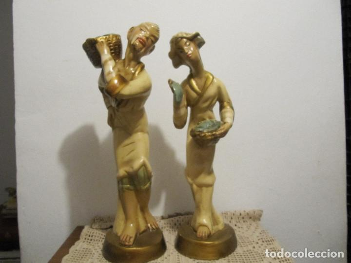 Antigüedades: MUY ANTIGUAS FIGURAS EN CERAMICA ARTE BACHERO VALLADOLID ESPAÑA-44CM - Foto 36 - 194254648