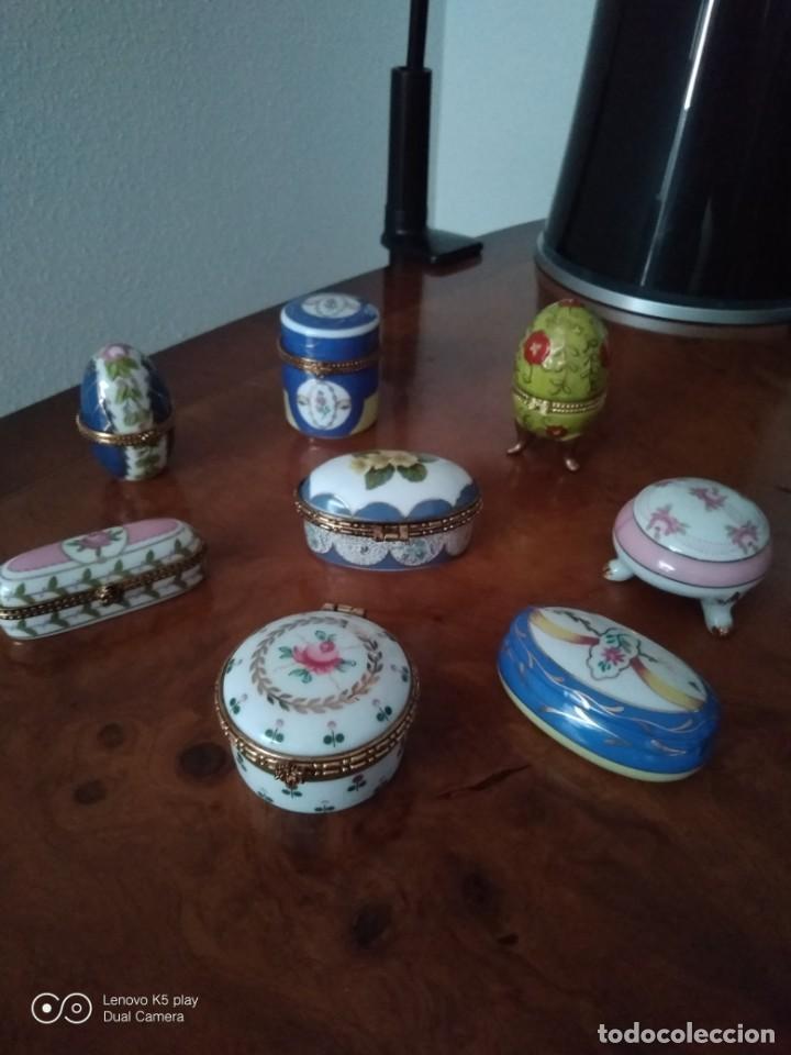 ARTE PORCELANA. CAJITAS. (Antigüedades - Porcelanas y Cerámicas - Otras)