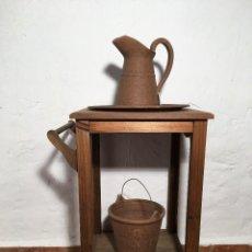 Antigüedades: PALANGANERO CON JUEGO CERAMICA. Lote 194255973