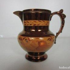 Antigüedades: PRECIOSA JARRA DE BRISTOL, INGLATERRA - JARRA CON REFLEJO METÁLICO - S. XIX - DE COLECCIÓN!!!. Lote 194256968