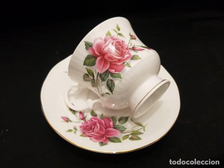 Antigüedades: Taza colección mes de Junio de porcelana inglesa. Staffordshire - Foto 3 - 194257373