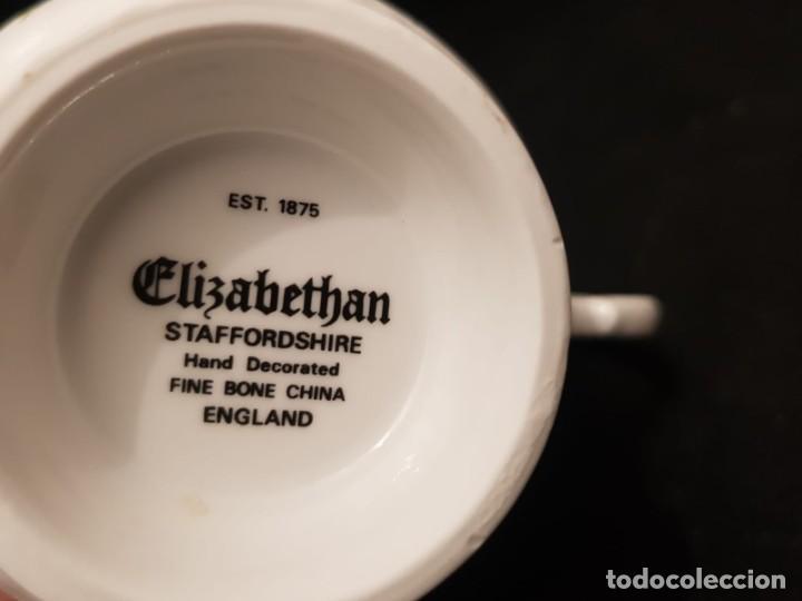 Antigüedades: Taza colección mes de Junio de porcelana inglesa. Staffordshire - Foto 7 - 194257373