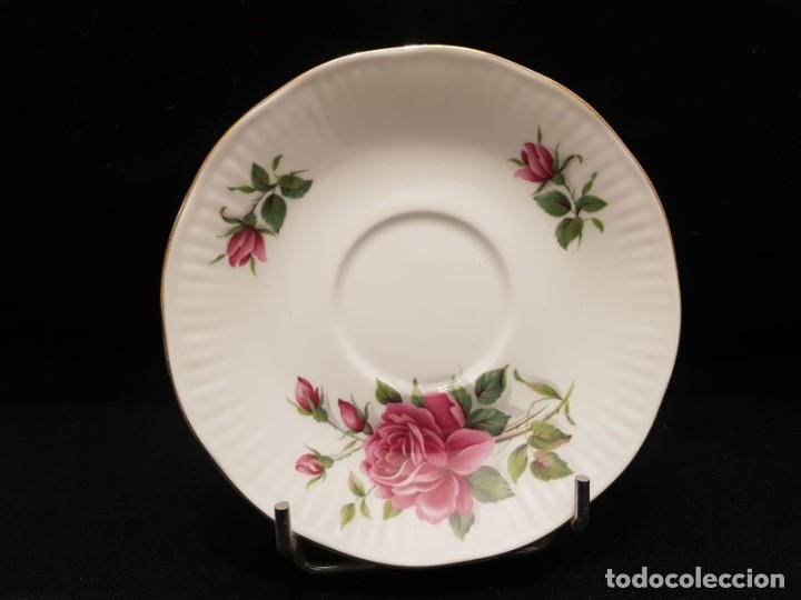 Antigüedades: Taza colección mes de Junio de porcelana inglesa. Staffordshire - Foto 8 - 194257373