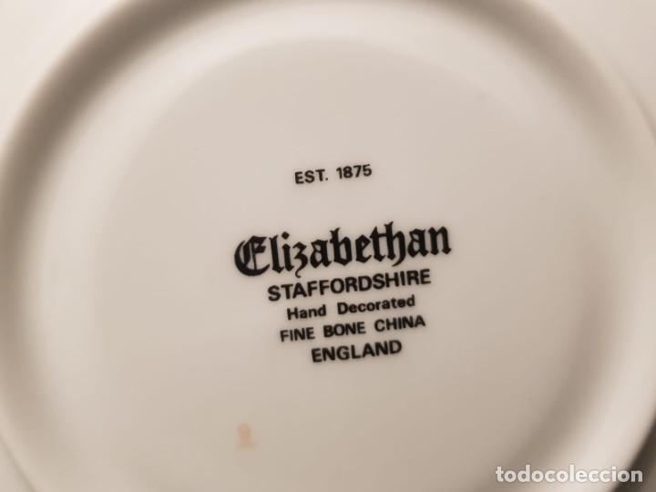 Antigüedades: Taza colección mes de Junio de porcelana inglesa. Staffordshire - Foto 9 - 194257373