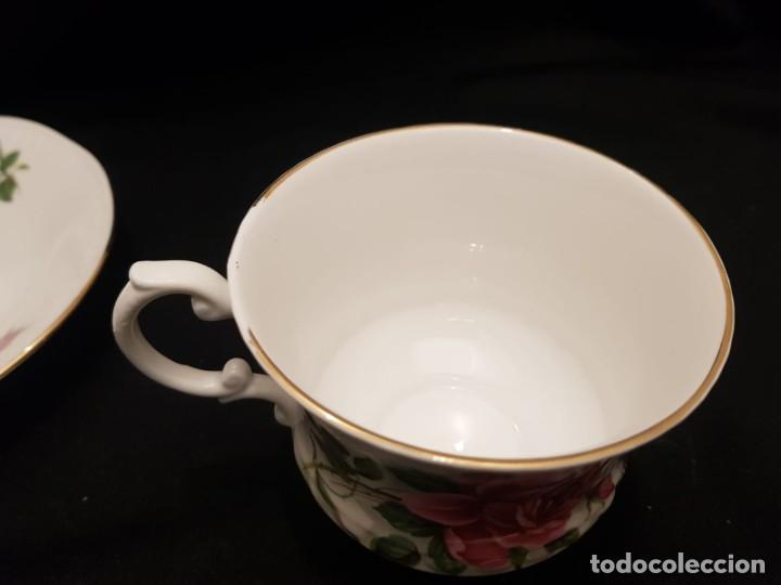 Antigüedades: Taza colección mes de Junio de porcelana inglesa. Staffordshire - Foto 10 - 194257373