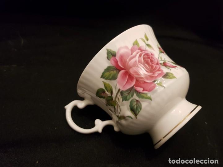 Antigüedades: Taza colección mes de Junio de porcelana inglesa. Staffordshire - Foto 11 - 194257373
