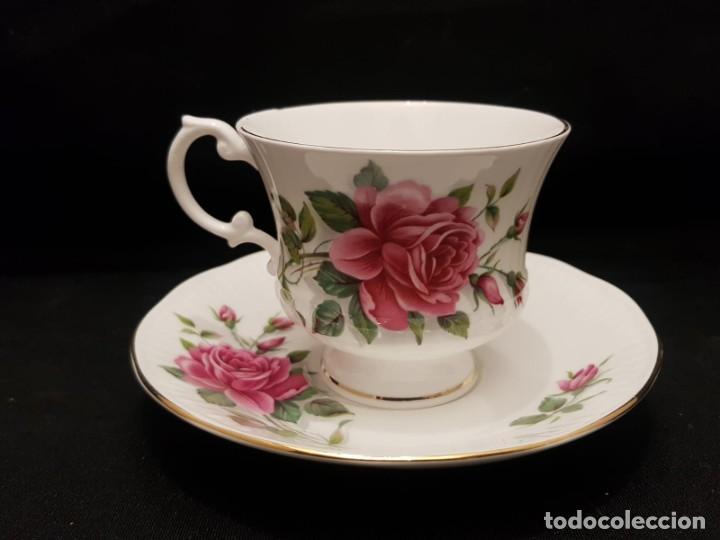 Antigüedades: Taza colección mes de Junio de porcelana inglesa. Staffordshire - Foto 12 - 194257373
