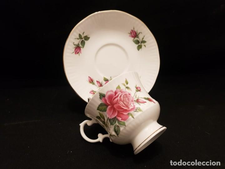Antigüedades: Taza colección mes de Junio de porcelana inglesa. Staffordshire - Foto 13 - 194257373