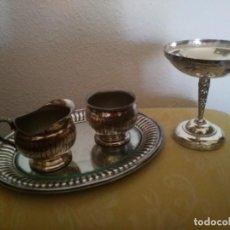 Antigüedades: VINAJERAS Y PATENA. Lote 194261357