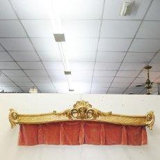 Antigüedades: GALERÍA ANTIGUA PARA CORTINAS LUIS XV Y PAN DE ORO. Lote 194263510