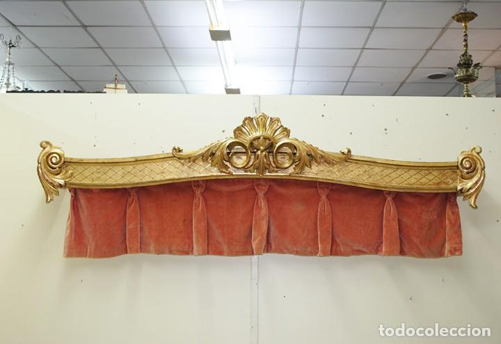 Antigüedades: GALERÍA ANTIGUA PARA CORTINAS LUIS XV Y PAN DE ORO - Foto 2 - 194263510