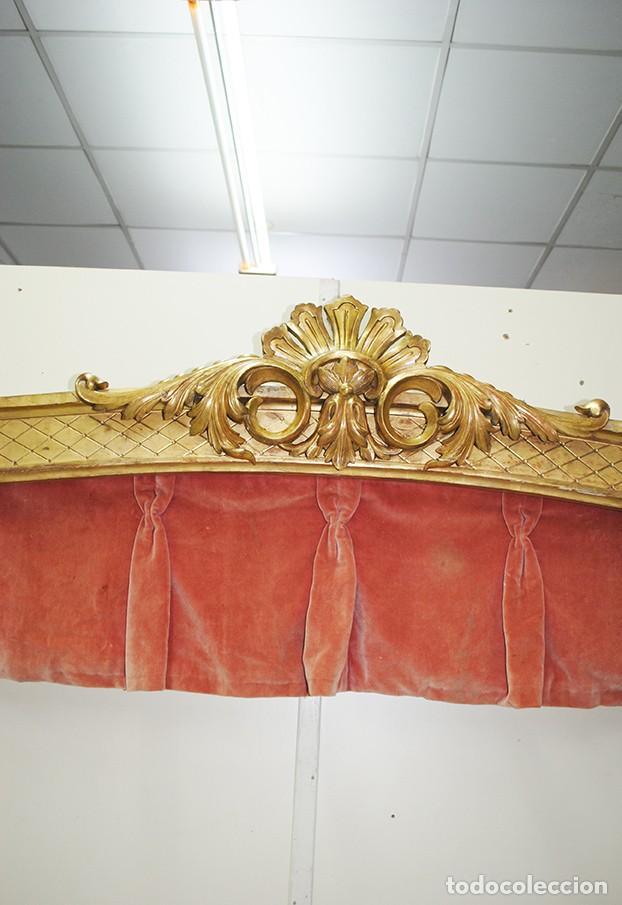 Antigüedades: GALERÍA ANTIGUA PARA CORTINAS LUIS XV Y PAN DE ORO - Foto 6 - 194263510