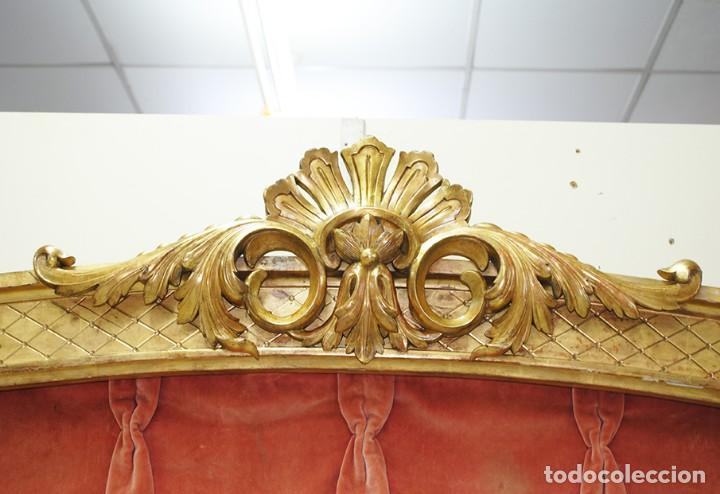 Antigüedades: GALERÍA ANTIGUA PARA CORTINAS LUIS XV Y PAN DE ORO - Foto 7 - 194263510