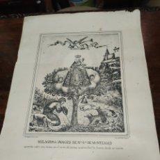 Antigüedades: LITOGRAFÍA, MILAGROSA IMAGEN DE N S DE MONTEAGUD, ALMERÍA. Lote 194264168