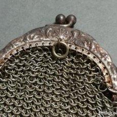 Antigüedades: MONDEDERO ANTIGUO DE MALLA METÁLICA. Lote 194271652