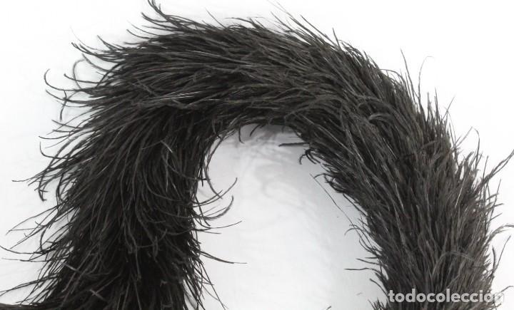 Antigüedades: 4A Dos pequeñas estolas de penachos de marabú s XIX - Foto 2 - 194271922
