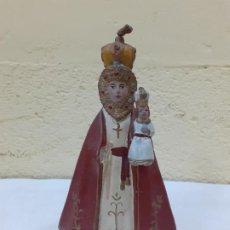 Antigüedades: VIRGEN CON NIÑO TAL VEZ COLONIAL ESTUCO (930). Lote 194272365