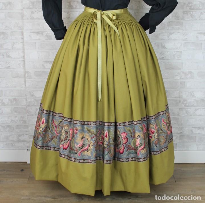 FALDA DE ALGODON PARA INDUMENTARIA TRADICIONAL (Antigüedades - Moda y Complementos - Mujer)