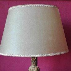 Antigüedades: ANTIGUA LAMPARA ANGEL DE MADERA. Lote 194278607