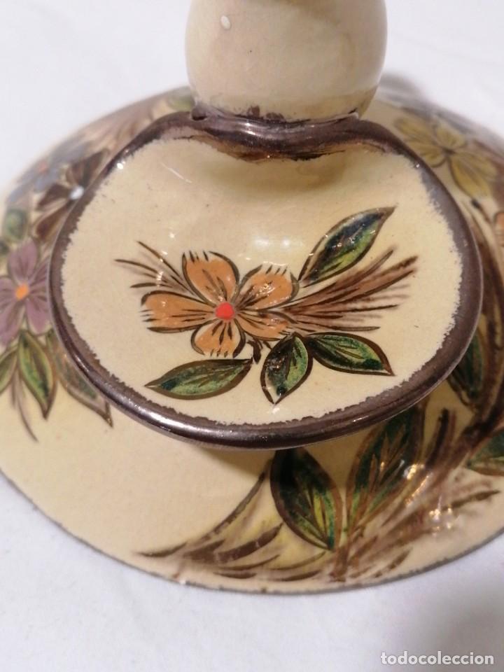 Antigüedades: Antigua Palmatoria con marcaje en barro esmaltado - Foto 9 - 194278665