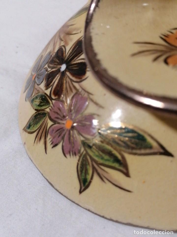 Antigüedades: Antigua Palmatoria con marcaje en barro esmaltado - Foto 10 - 194278665