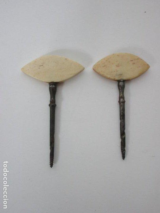 Antigüedades: Neceser de Viaje - Militar - Empuñaduras en Hueso - con Tintero, Navajas Afeitar, etc - S. XIX - Foto 8 - 194281241