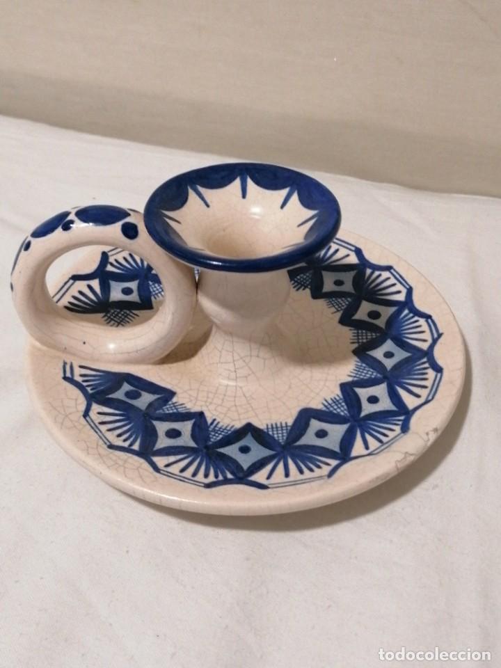 Antigüedades: Antigua Palmatoria en tonos azules - Foto 2 - 194281895