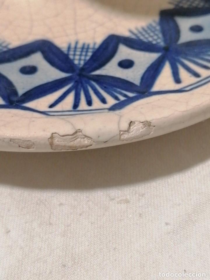 Antigüedades: Antigua Palmatoria en tonos azules - Foto 3 - 194281895