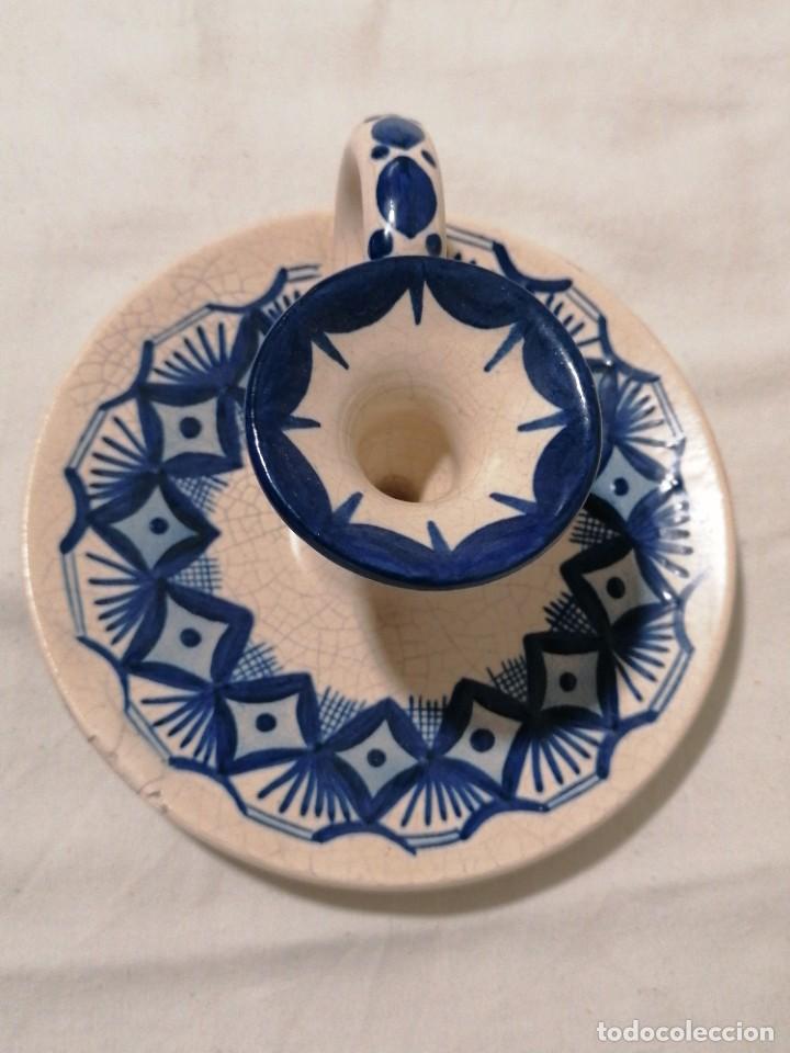 Antigüedades: Antigua Palmatoria en tonos azules - Foto 4 - 194281895