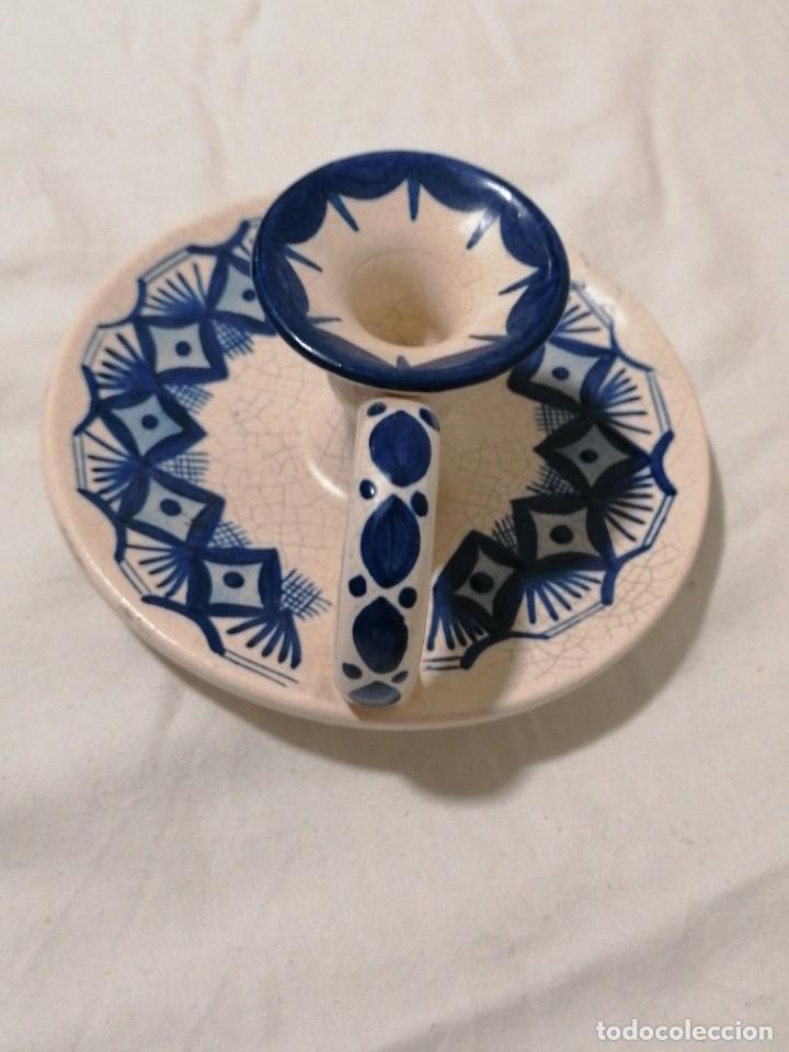 Antigüedades: Antigua Palmatoria en tonos azules - Foto 5 - 194281895