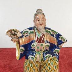 Antigüedades: ACTOR DE TEATRO JAPONÉS. PORCELANA ESMALTADA. DECORADO A MANO. SIGLO XX. . Lote 194289101