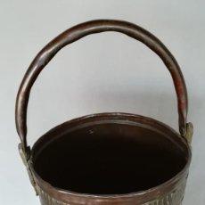 Antigüedades: PARAGÜERO DE COBRE Y LATON. Lote 194291405