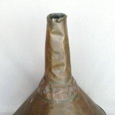 Antigüedades: EMBUDO DE COBRE GRANDE CON ANILLA. Lote 194291631