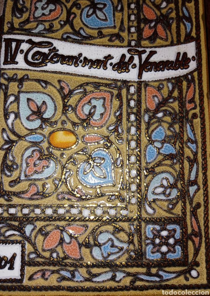 Antigüedades: PLACA DE AZULEJO - CRISTO VENERABLE - CUARTO CENTENARIO - ALCORA - RELIEVES Y ESMALTES- IMPRESIONAN - Foto 11 - 194291932